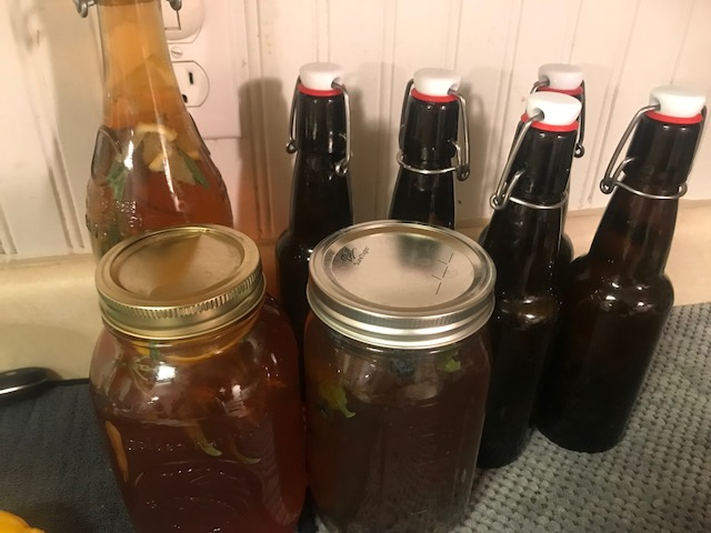 sealed homemade kombucha