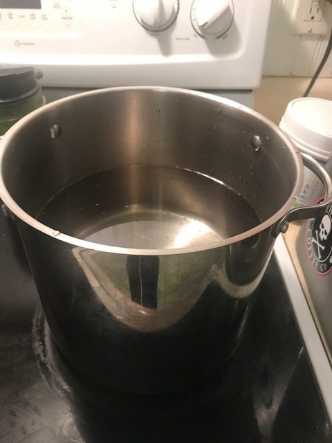 boiling water for kombucha